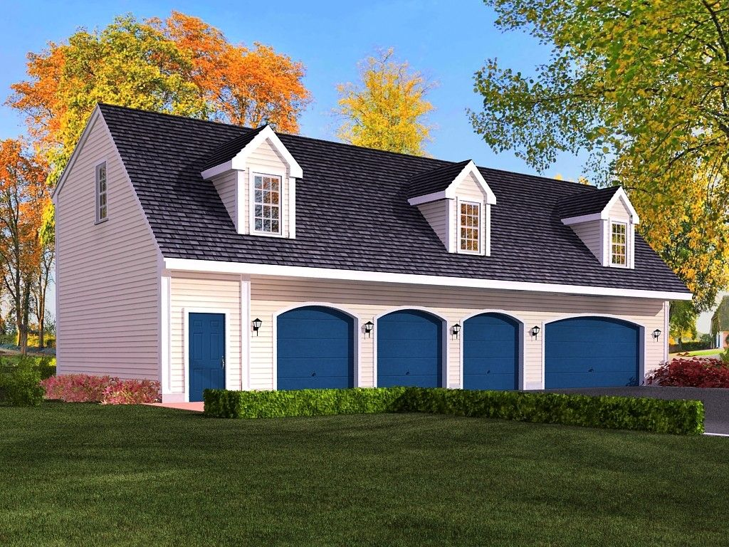 4 car garage cabin plans with living quarters google for Four car garage size