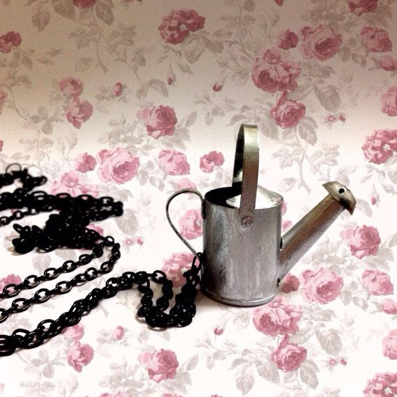 Vintage Aluminum Garden watering can Rusty Water Can by XenaStyle