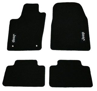 Jeep Grand Cherokee Carpet Floor Mats Black Embroidered Jeep