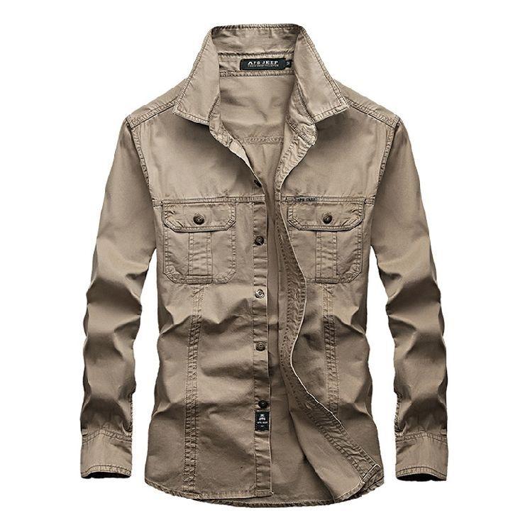 UUYUK Men Button Up Basic Cotton Short Sleeve Outdoor Military Dress Shirts
