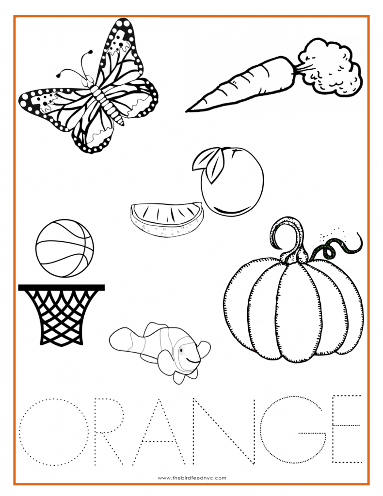 orange color activity sheet other colors the preschool stuff kindergarten colors color. Black Bedroom Furniture Sets. Home Design Ideas