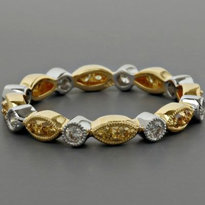 Yellow Diamond Eternity Band  / Special Order