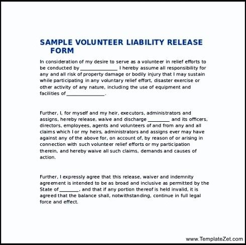 Release Of Liability Form template Pinterest Template - liability release form