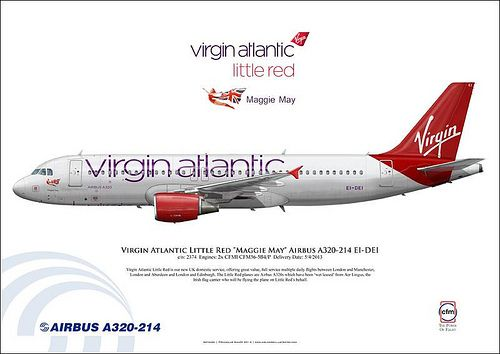 Virgin Atlantic Little Red Maggie May Airbus A320 214 Ei Dei
