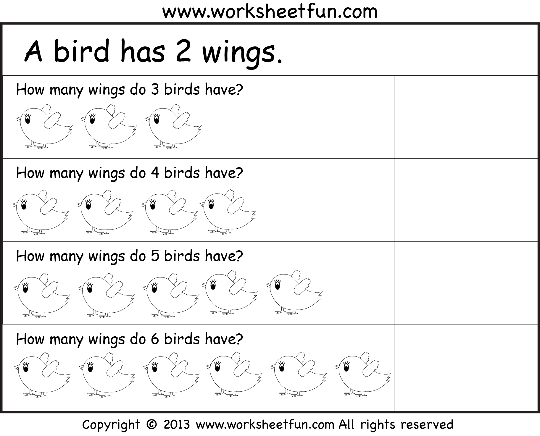 Picture Word Problems  Repeated Addition  Multiplication  Four Worksheets  / FREE Printable Worksheets