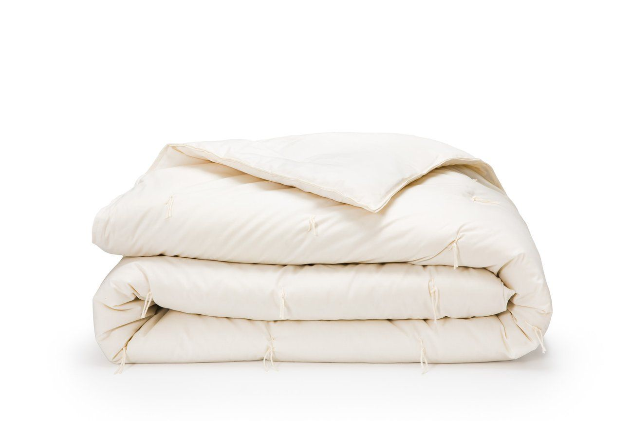 Wool Comforter On White Background Comforters Wool Bed Organic Bedding
