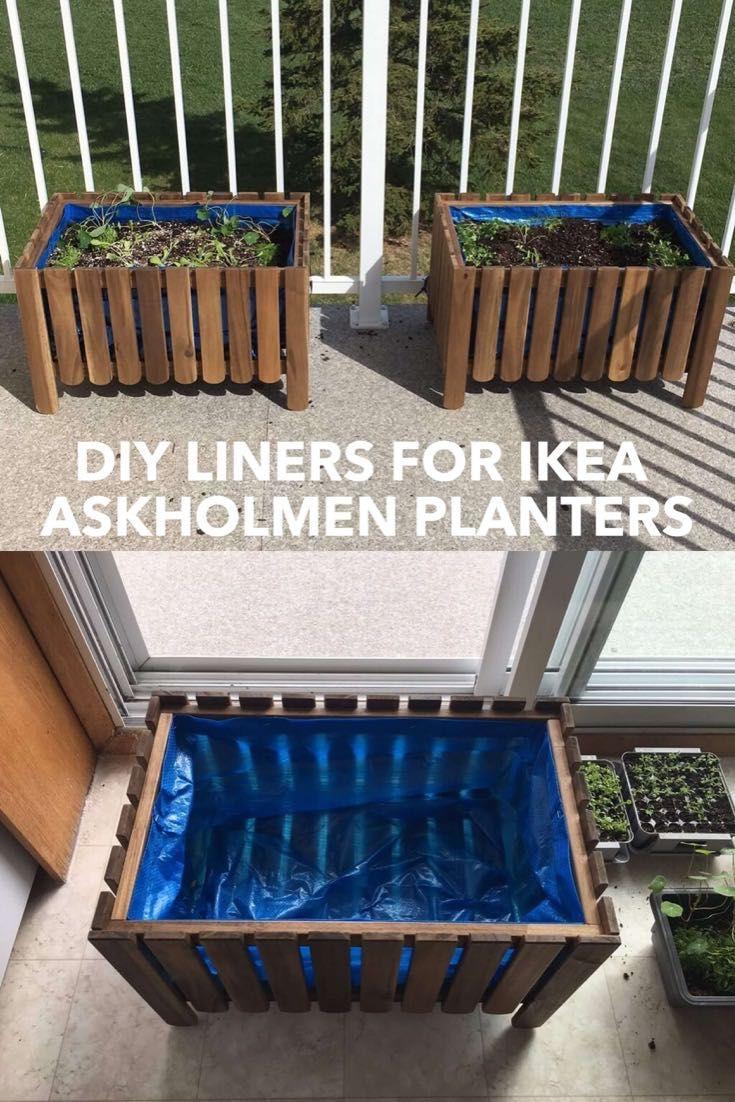 Diy Raised Bed Liner For Askholmen Planter Ikea Hackers Raised Garden Beds Diy Ikea Garden Furniture Ikea Garden Hack