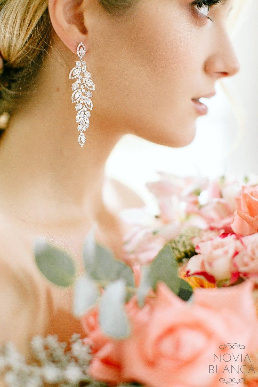 595c2729a3c038 Kolczyki LIsa marki Novia Blanca - biżuteria ślubna #earrings #wedding  #jewelry