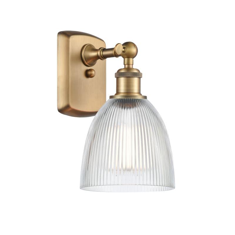 "Photo of Innovations lighting 516-1W Castile Castile 11 ""high bathroom lamp brushed brass / clear interior lighting bathroom fittings bathroom lamp"