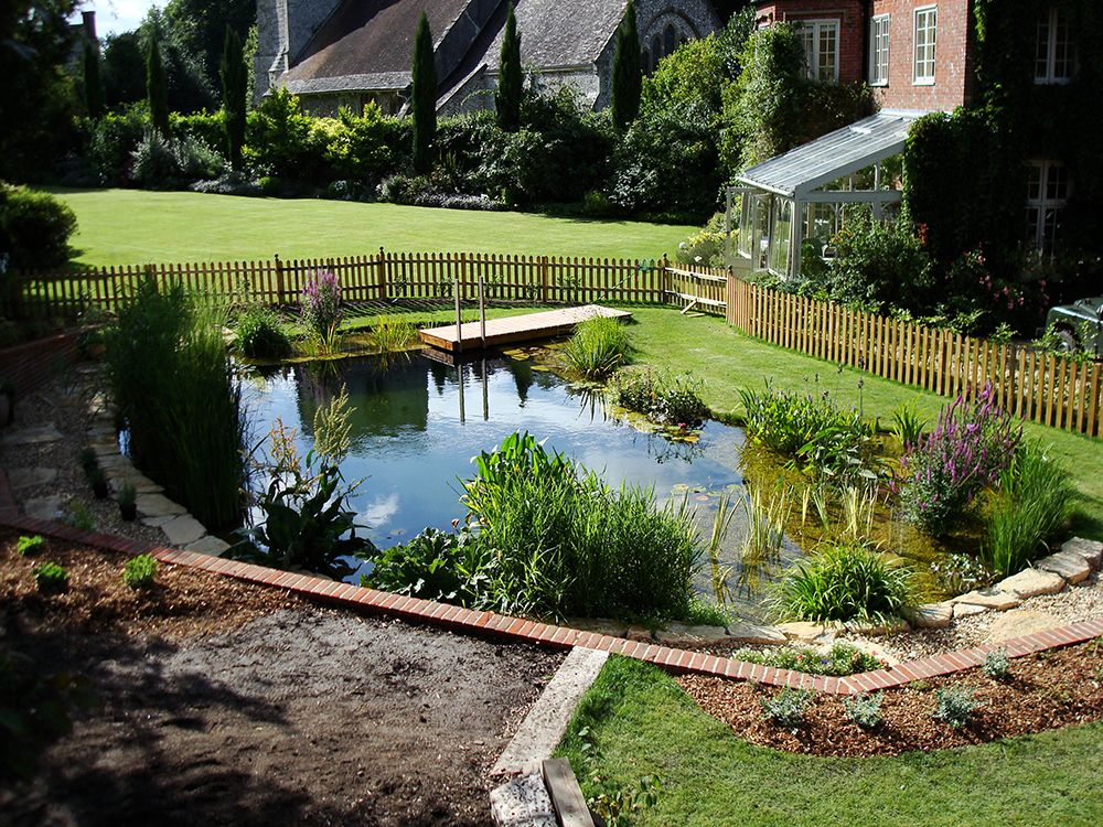 natural swimming pools warwickshire, swimming pond design
