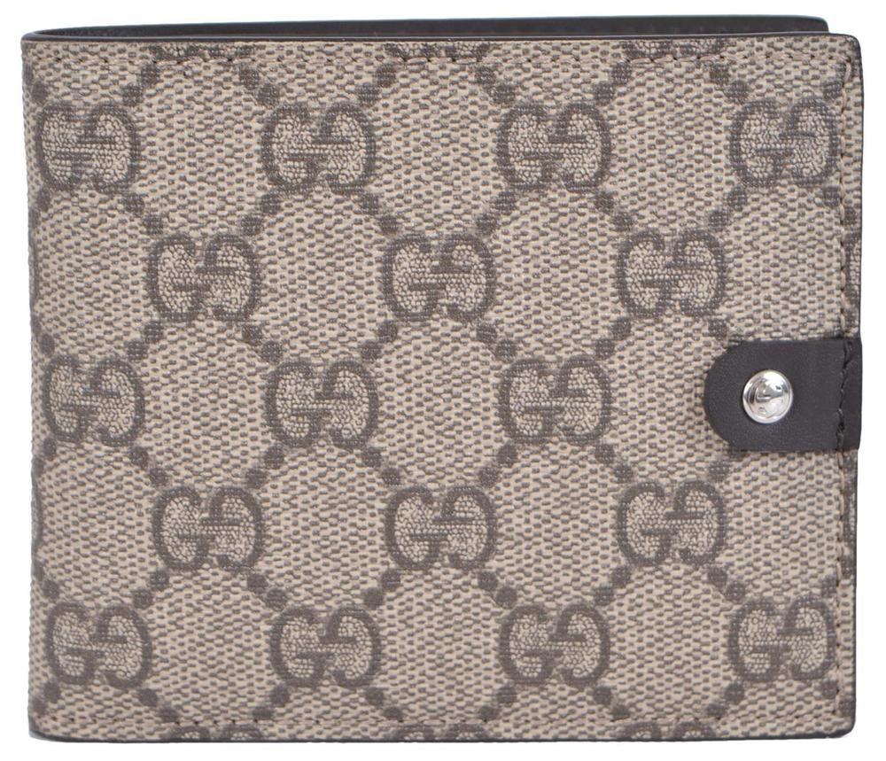 e2c505669d3b New Gucci Men's 365477 Taupe Supreme Canvas GG Guccissima Bifold Wallet # Gucci #Bifold