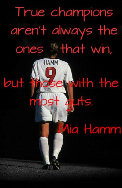 Soccer Poster Mia Hamm Soccer Champion Photo Quote by ArleyArt  |Mia Hamm Soccer Quotes