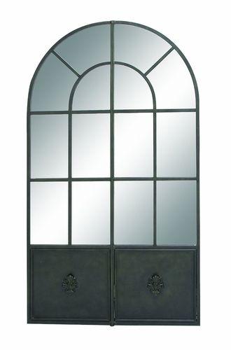 The Huiji— De (Nostalgic) Metal Wall Mirror by Woodland Import