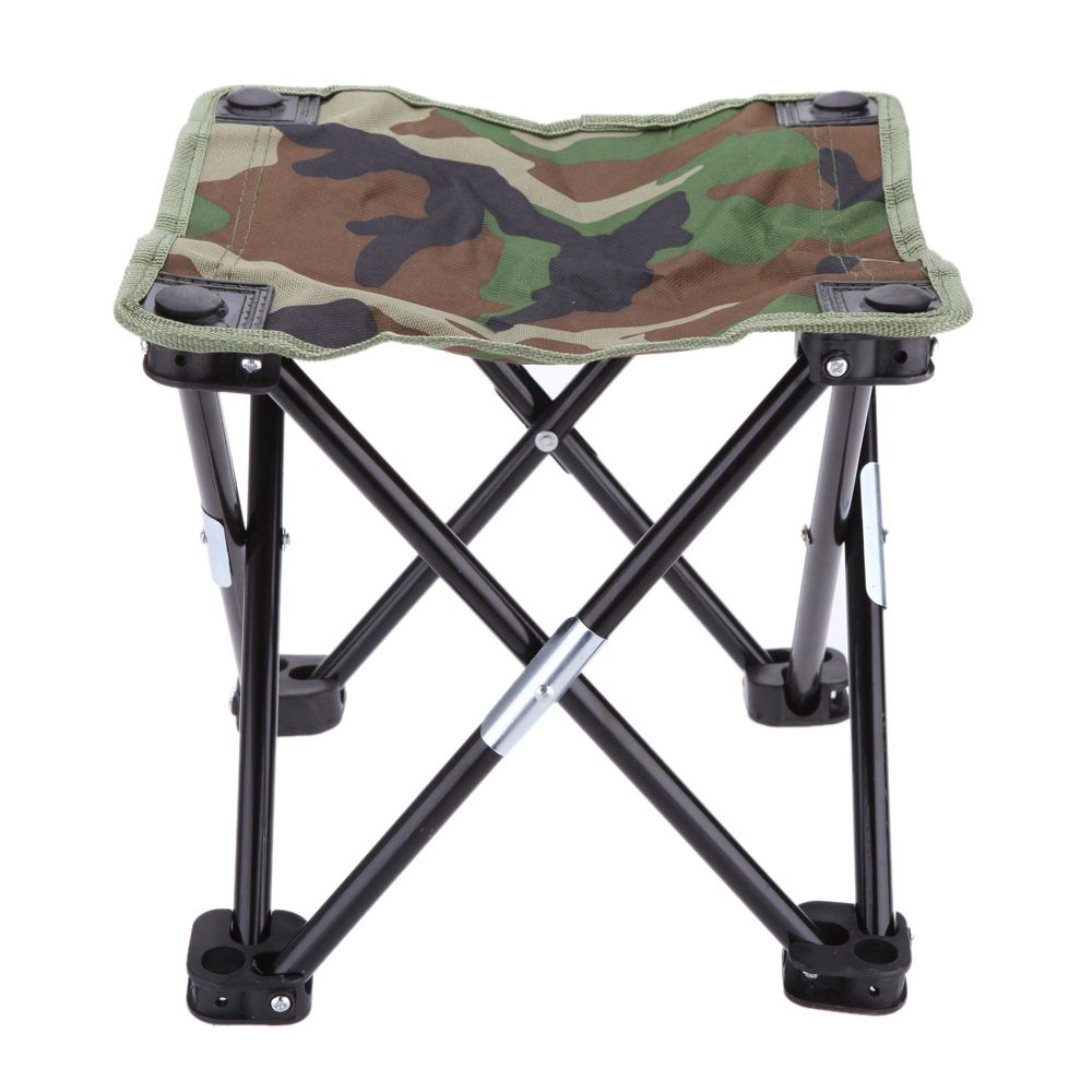 28 * 28 * 23cm Camouflage Foldable Fishing Chair Portable Outdoor Camping  Chair Stool