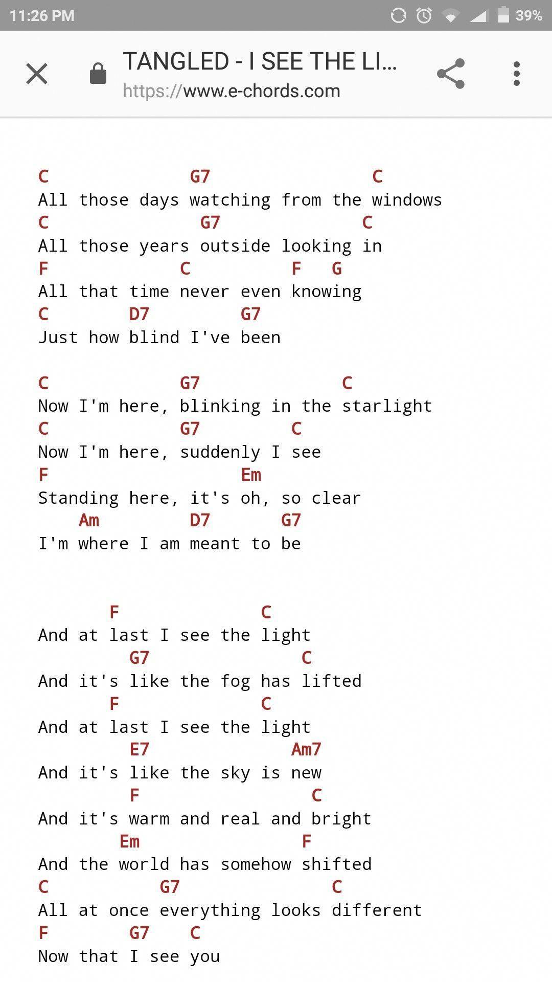 At Last I See The Light Ukulele : light, ukulele, Light, Ukulele, Songs,, Chords, Songs, Popular