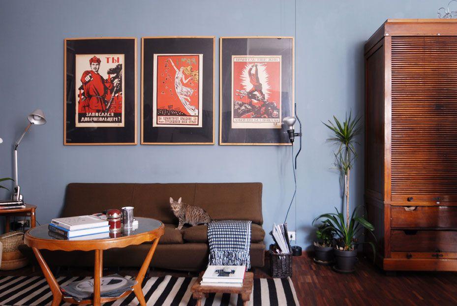 Pereti carta da zucchero e tortora?? Vintage Apt Milan Idee Di Interior Design Arredamento Idee Per Decorare La Casa