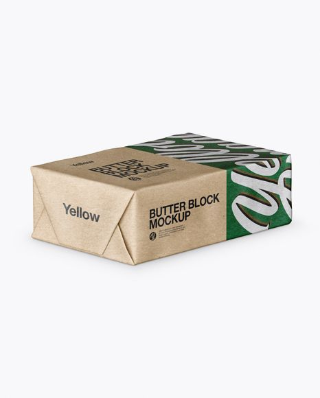 Download Kraft Paper Butter Block Mockup Half Side View High Angle Shot In Packaging Mockups On Yellow Images Object Mockups Mockup Psd Mockup Free Psd Psd Mockup Template