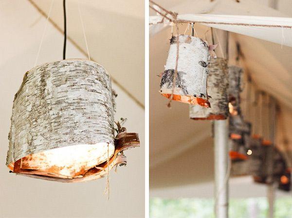 Now To Just Find Some Birch Bark DIY Birch Bark Lamp DIY - Beautiful diy birch bark lamp