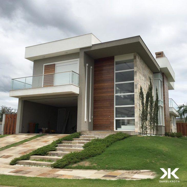 Arquitetura Integrando Pisos: 45 Fachadas De Casas De Esquina Para Você Se Inspirar