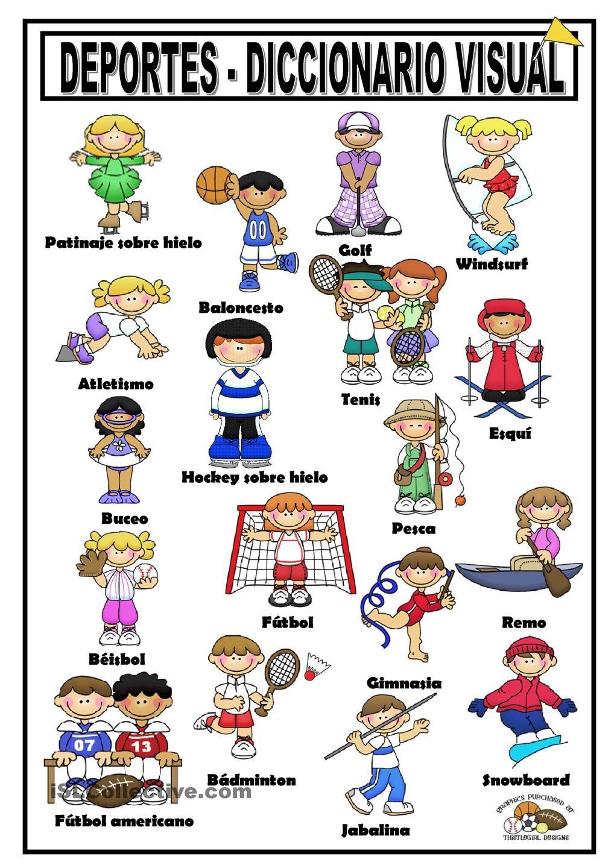 Deportes Deportes En Ingles Deportes De Ninos Crucigrama Para Ninos