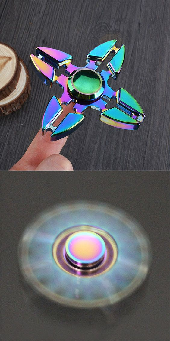 Colorful Stress Relief Toy Crab Clip Cross Fid Finger Spinner