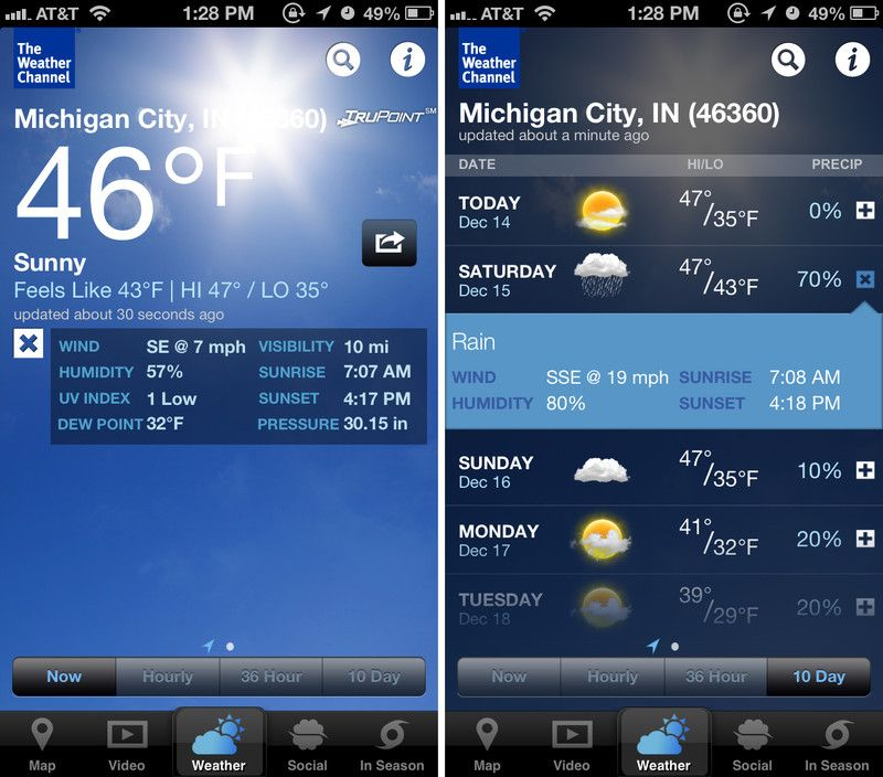 The Weather Channel Max vs  AccuWeather vs  Weather Live: Hardcore