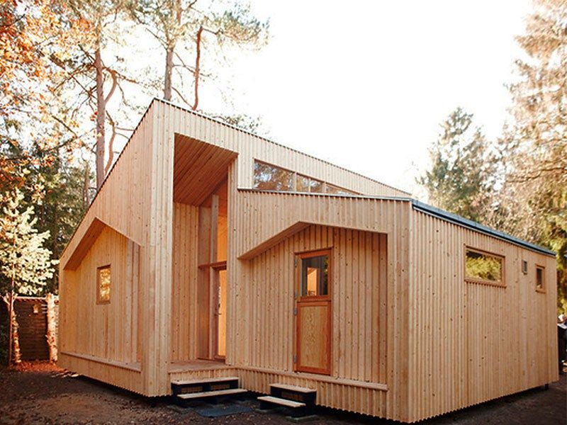 Arquitectura sostenible casas prefabricadas de madera - Pergolas prefabricadas ...
