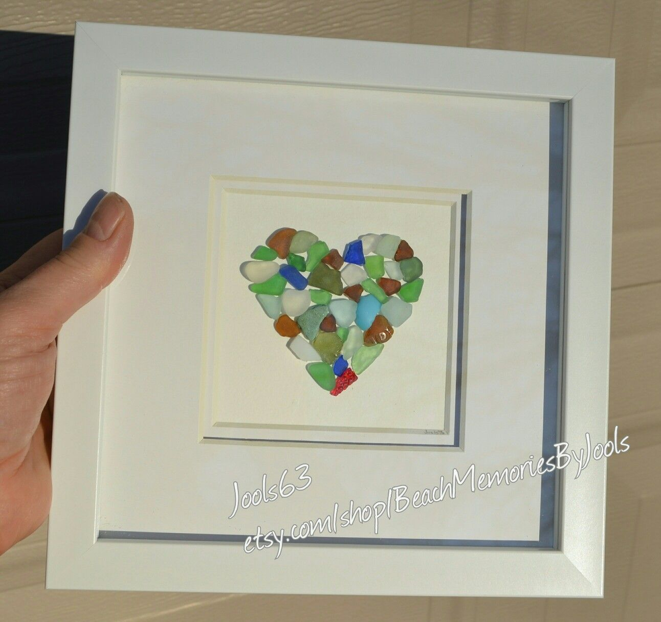 heart art, glass art, glass heart, beach glass heart, sea glass