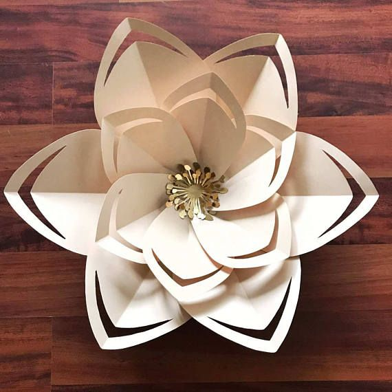 SVG Petal 43 Paper Flowers Template With Flat Center For
