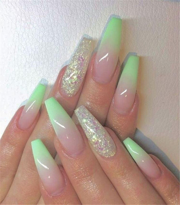 75 The Most Beautiful Ombre Acrylic Nails Designs You'll Like To Have - Women Fashion Lifestyle Blog Shinecoco.com