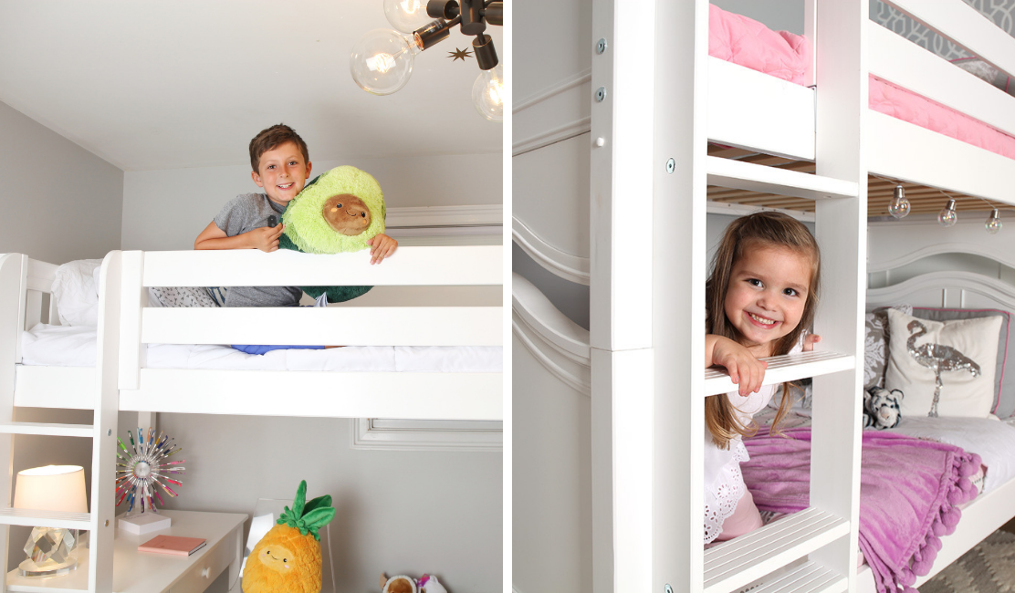Bunks vs. Lofts. Which is right for you? Big kids room