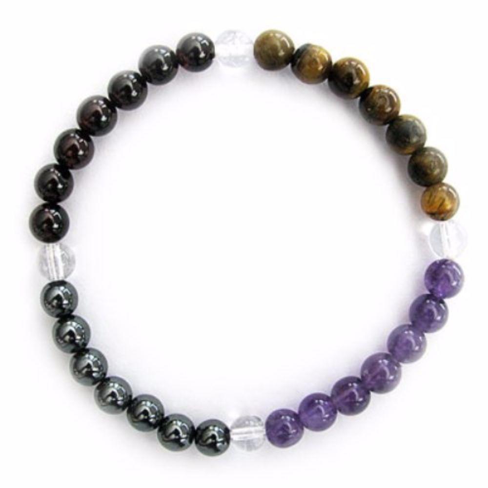 Gemstone ENERGY BRACELET Crystal Healing - TRAVEL SAFETY