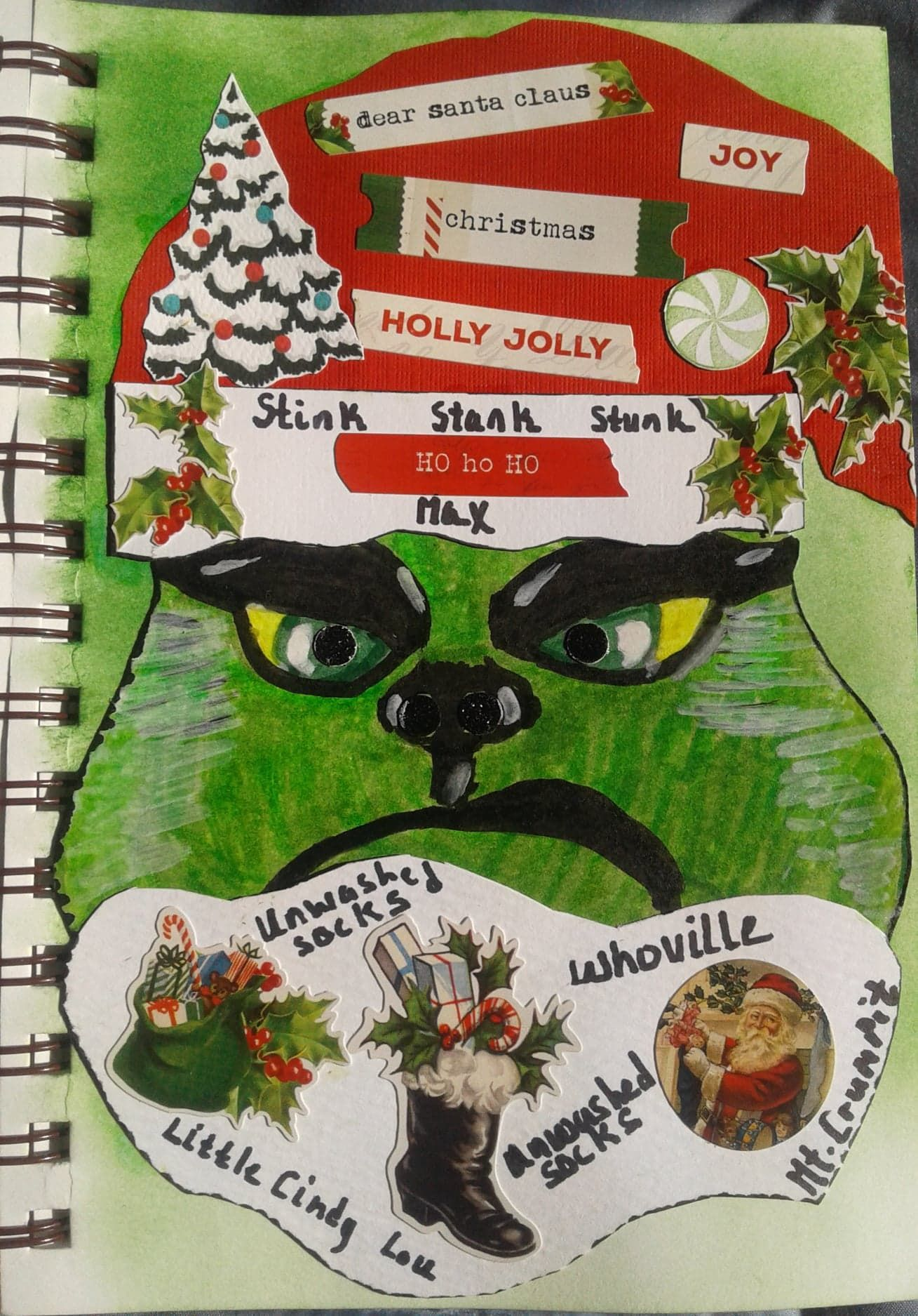 He's A Mean One, Mr. Grinch Diy artwork, Dear santa, Crafts