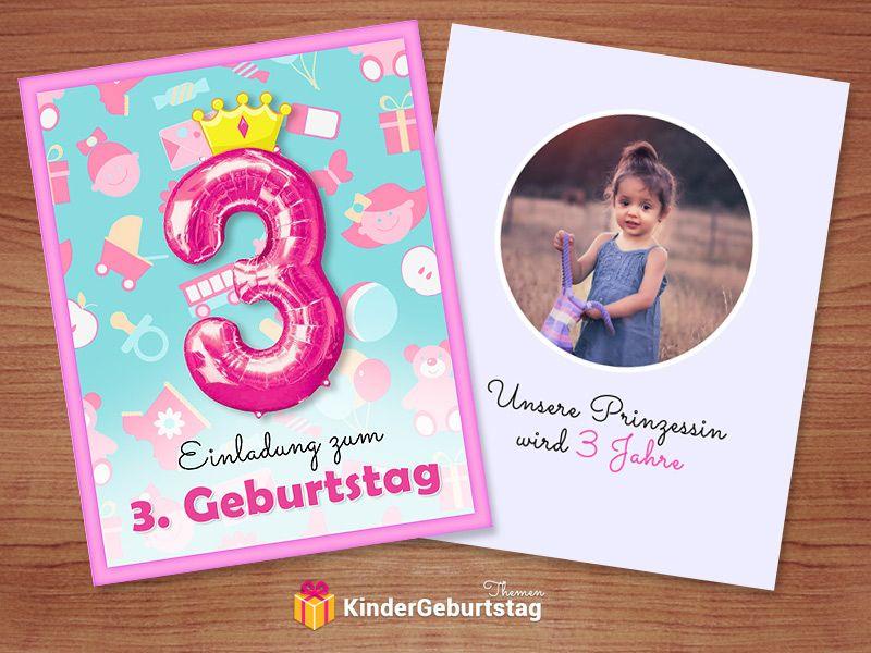 Diy Einladungen Zum 3 Kindergeburtstag Einladung 3 Geburtstag