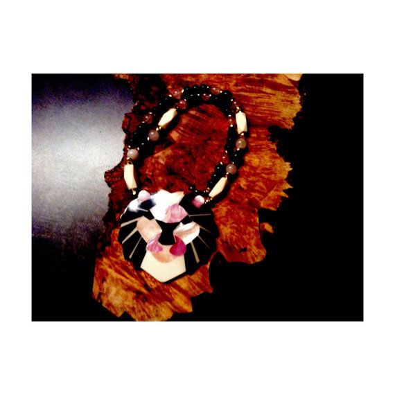 Vintage Lee Sands Lion Face Necklace