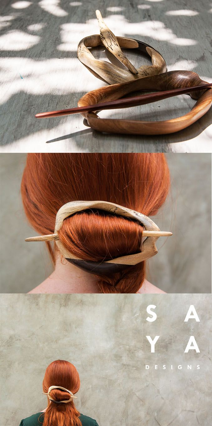 The moon flower hair stick set from saya designs hair products