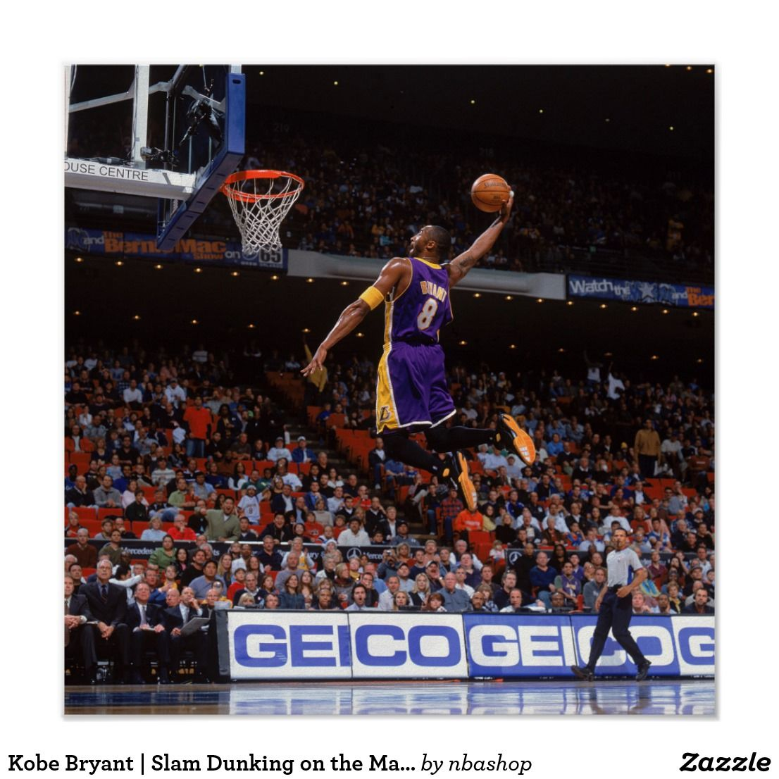 Kobe Bryant Slam Dunking On The Magic Print Zazzle Com Kobe Bryant Kobe Bryant Dunk Slam Dunk