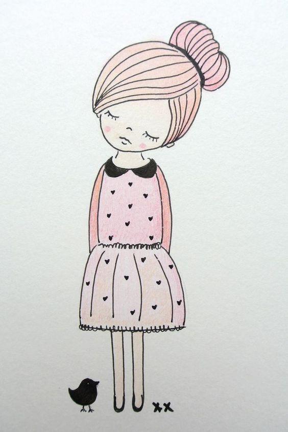 Рисунки для рисования для девушек