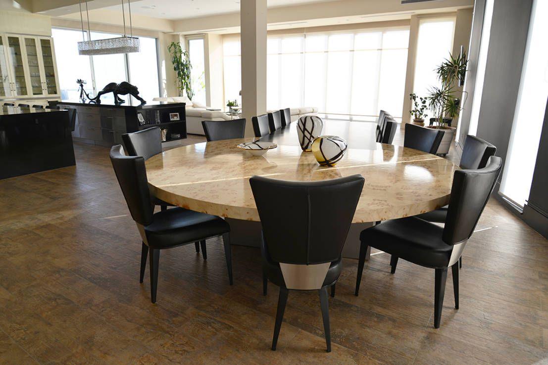 Mesas redondas para comedor 10 dise os diferentes ideas for Comedores redondos modernos