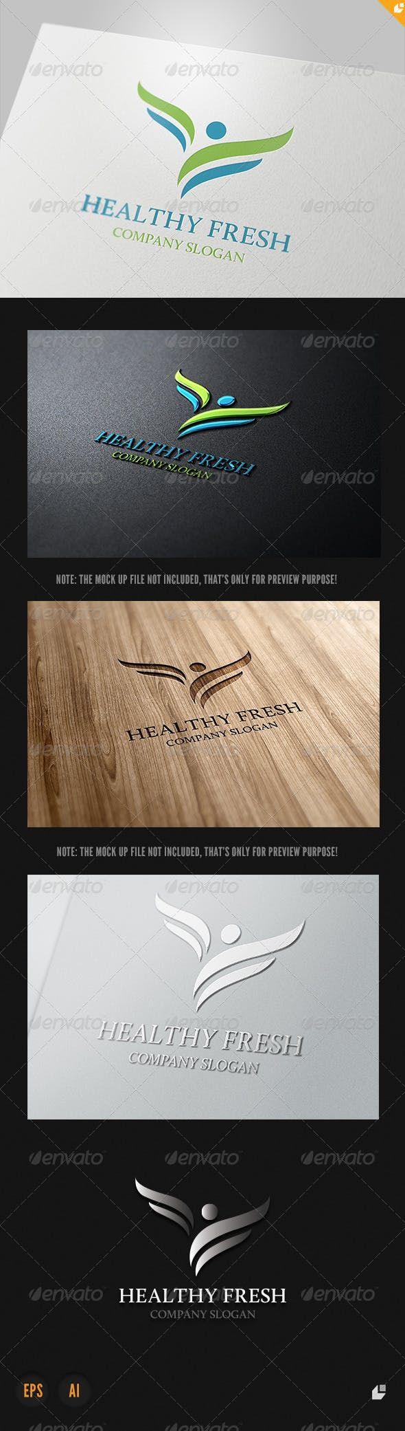 Healthy Fresh Logo — Vector EPS wellness business