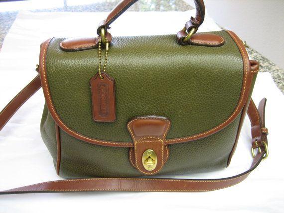 7cf4d7bd18d2 Rare COACH Vintage Authentic Pebble Leather Sheridan Monticello ...