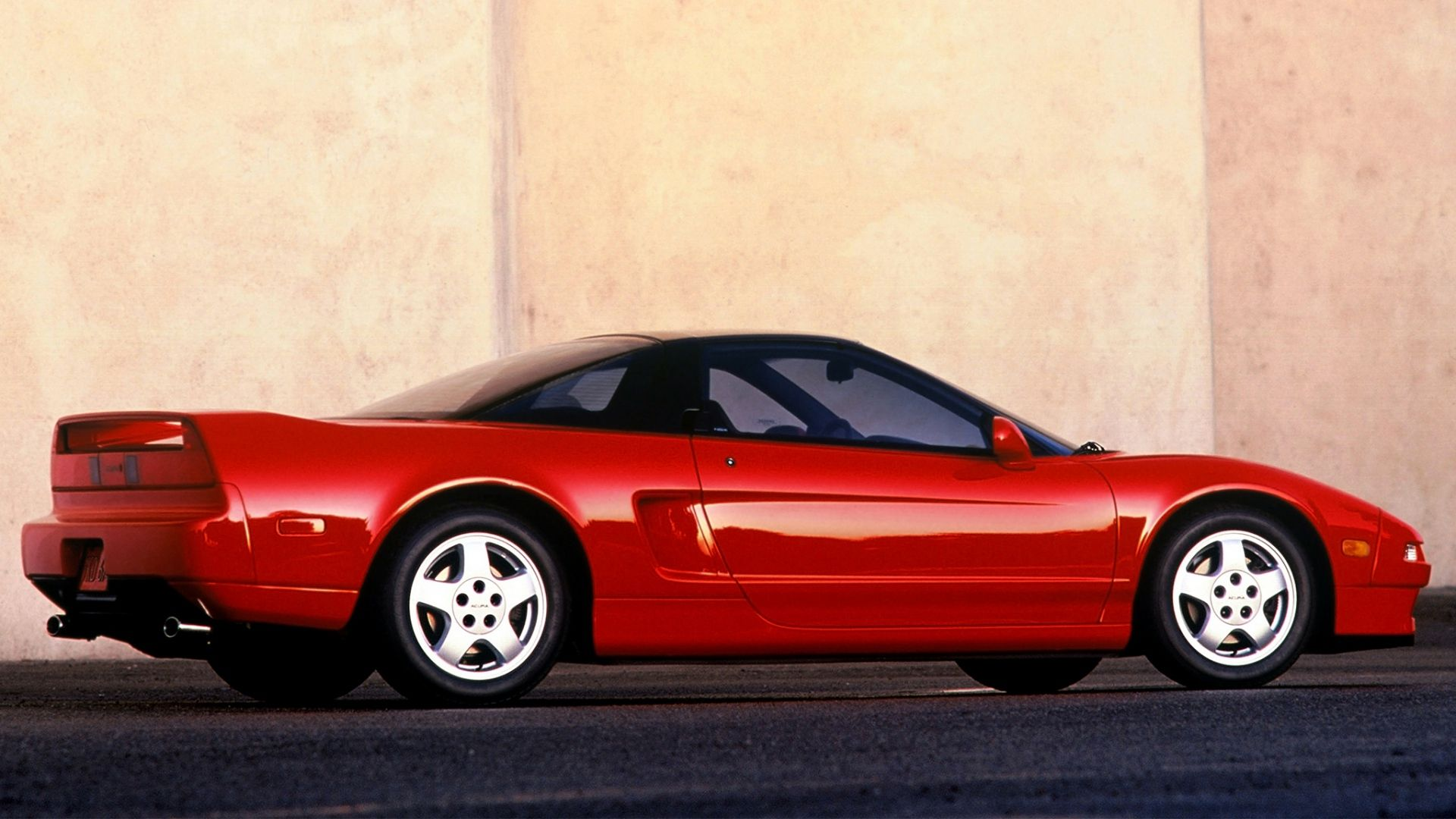 Download Wallpaper 1920x1080 Red Side View Acura Nsx Sports Style Cars Full Hd 1080p Hd Background Nsx Acura Sports Car Acura