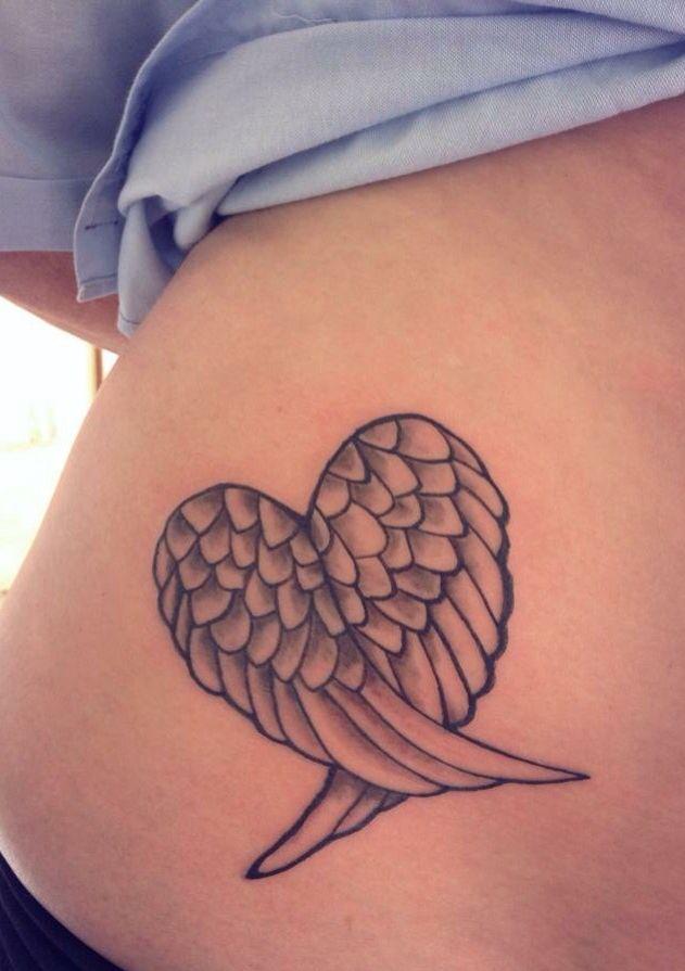 5b4032ae5 Heart/wing tattoo X | tattoos | Angel tattoo designs, Wrist tattoos ...