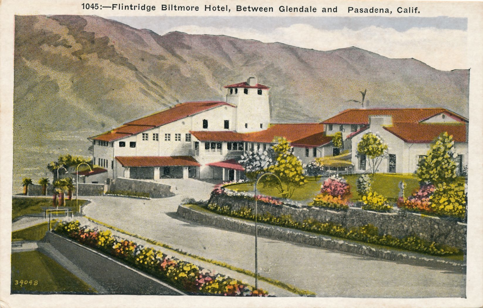A Postcard View Of Fsha From The 1940s San Gabriel Valley Pasadena San Gabriel Mountains