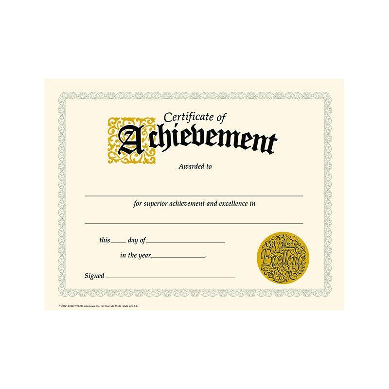 Certificate Of Achievement 30pk It Assignment Pinterest