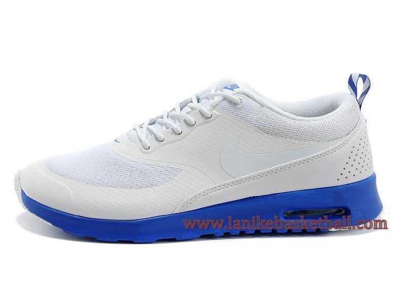 Nike Air Max Thea Print Chaussure De Course Pour Homme Blanc Bleu