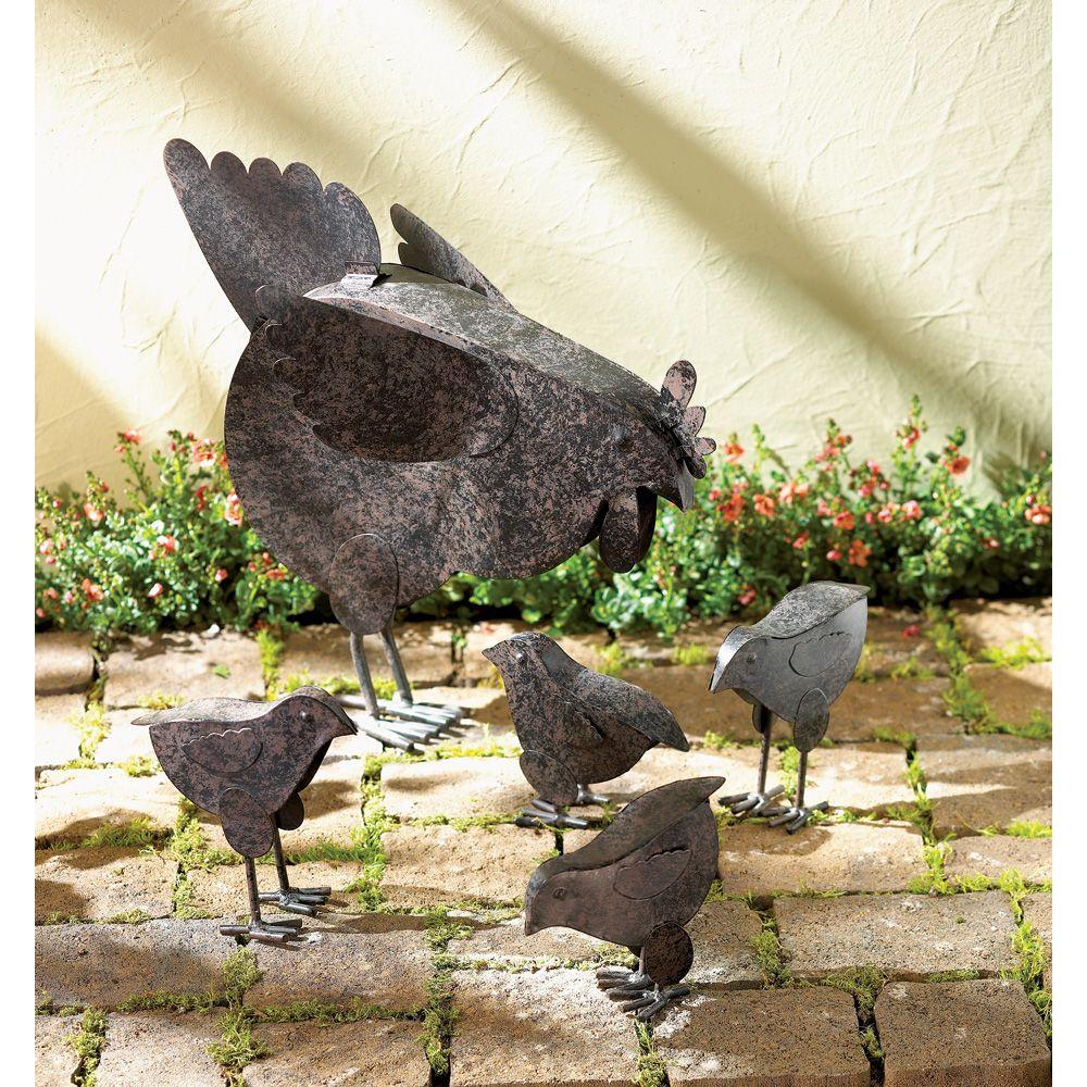 Metal+Chicken+Sculptures