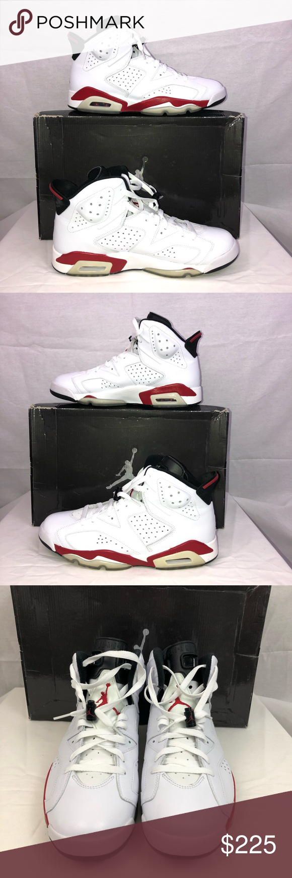 2d6552077a5d Nike Air Jordan 6 Retro 2009 White Varsity Red Nike Air Jordan Retro 6 (2009)  White Varsity Red With Box Like New only worn 1 time Excellent condition No  ...