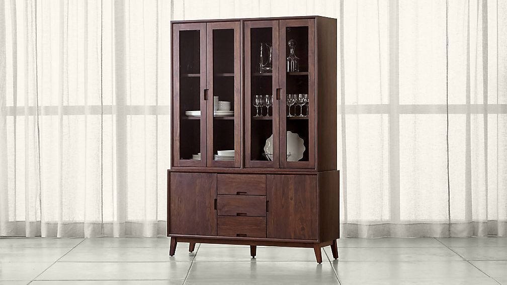 Crate Barrel Steppe Buffet With Hutch