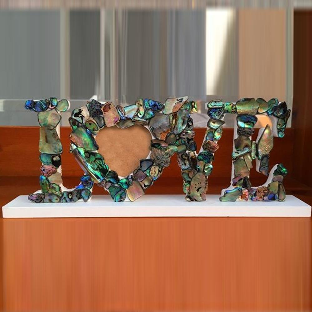 Paua Shell Love Frame Anniversary Gifts MyGiftGenie
